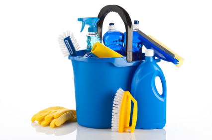 Cleaning-Materials-in-Bucket